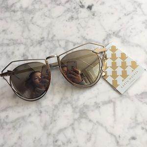 NWT KAREN WALKER Marguerite Mirrored Sunglasses